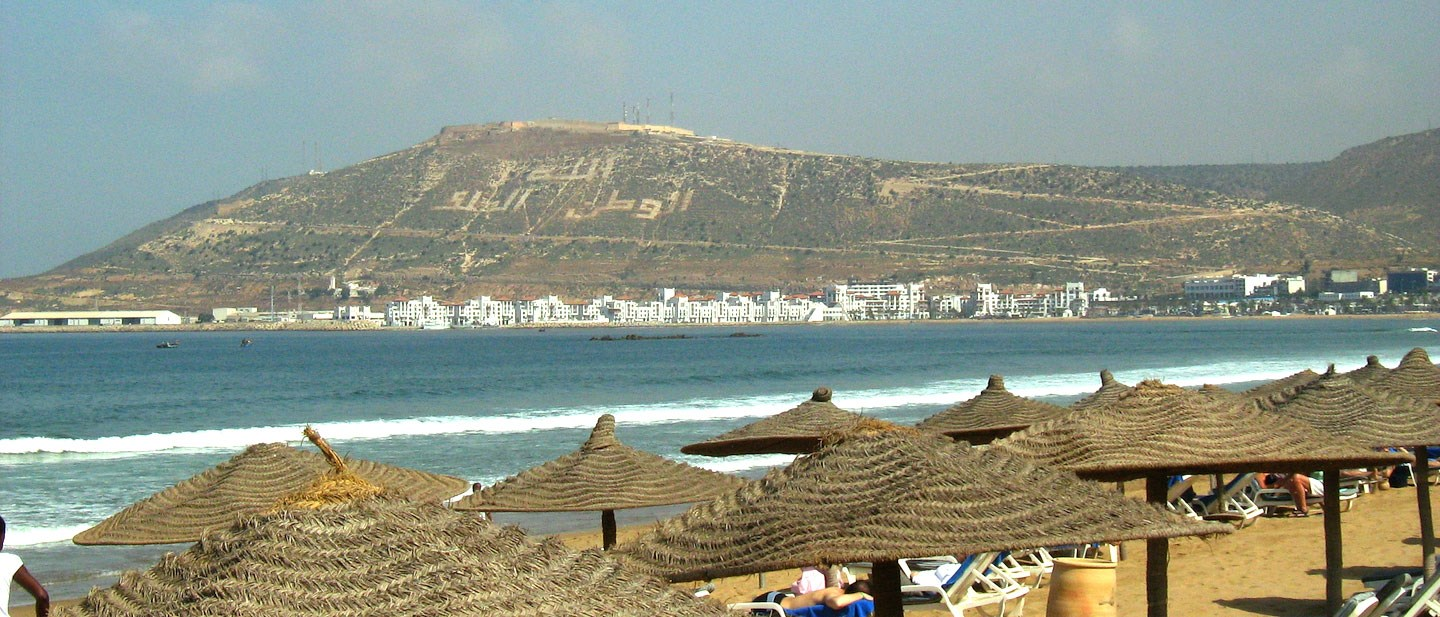 Plaisirs de la mer - Water activities on the beach of Agadir